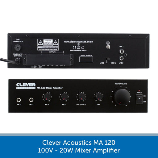 Clever Acoustics MA 120 100V 20W Mixer Amplifier