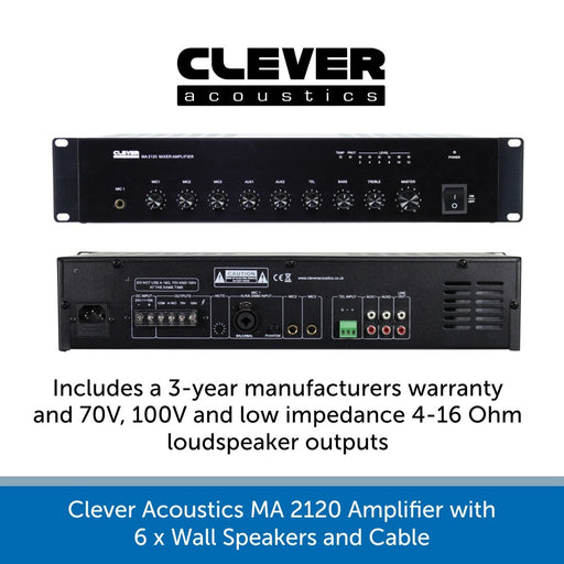 Showing a Clever Acoustics MA 2120 Amplifier