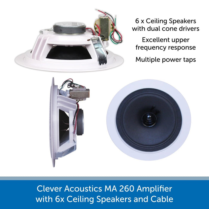 Clever Acoustics  6x Ceiling Speakers