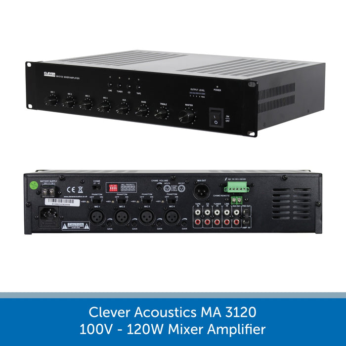 Clever Acoustics MA 3120 100V 120W Mixer Amplifier