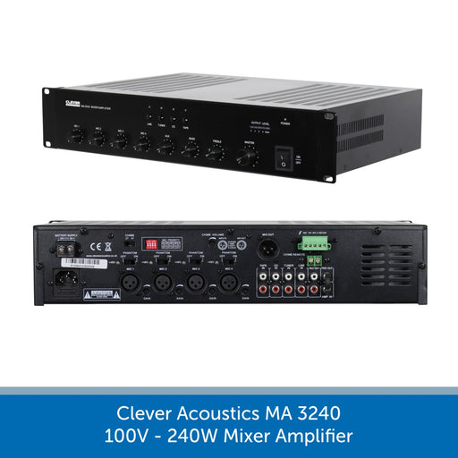 Clever Acoustics MA 3240 100V 240W Mixer Amplifier