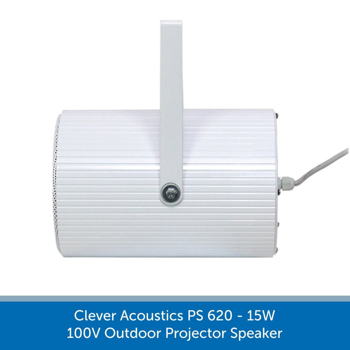 Clever Acoustics PS 620 15W 100V Outdoor Projector Speaker