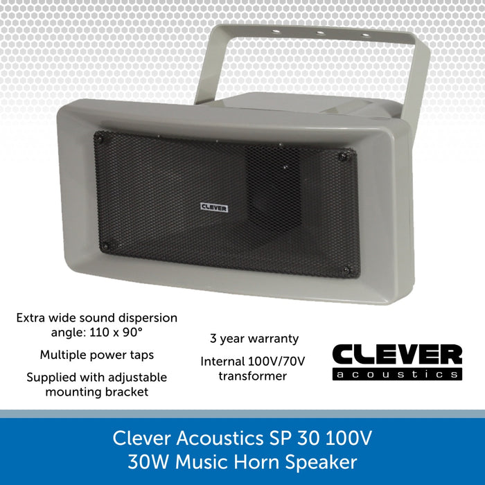 Clever Acoustics SP 30 100V 30W Music Horn Speaker
