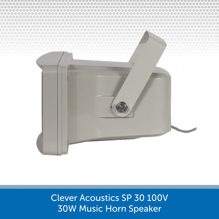 Side of a Clever Acoustics SP 30 100V 30W Music Horn Speaker
