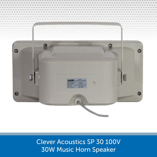 Showing the back of a Clever Acoustics SP 30 100V 30W Music Horn Speaker