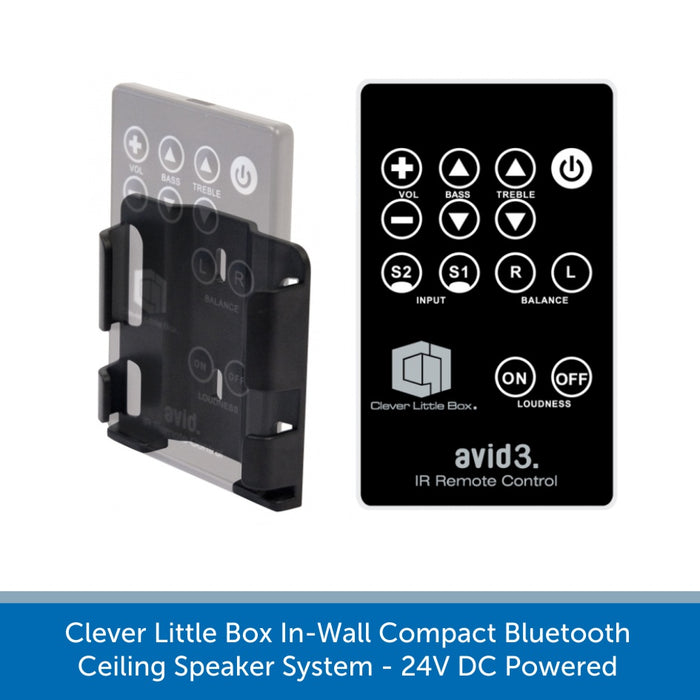 Clever Little Box AVID3 SYSTEM-C 2 Speaker In-Wall Bluetooth Background Music System