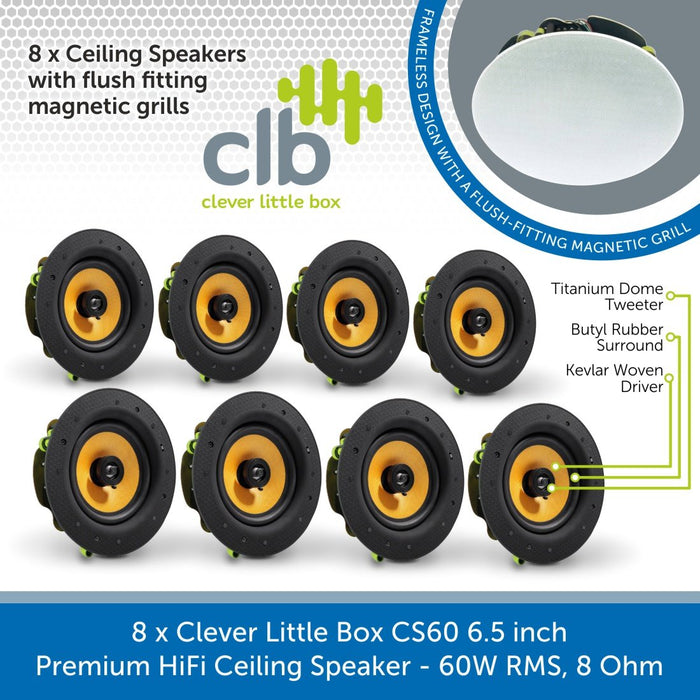 Clever Little Box CS60 6.5 inch Premium HiFi Ceiling Speaker - 60W RMS, 8 Ohm
