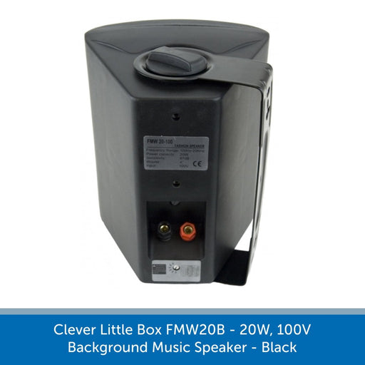 Clever Little Box FMW20B - 20W, 100V Background Music Speaker - Black