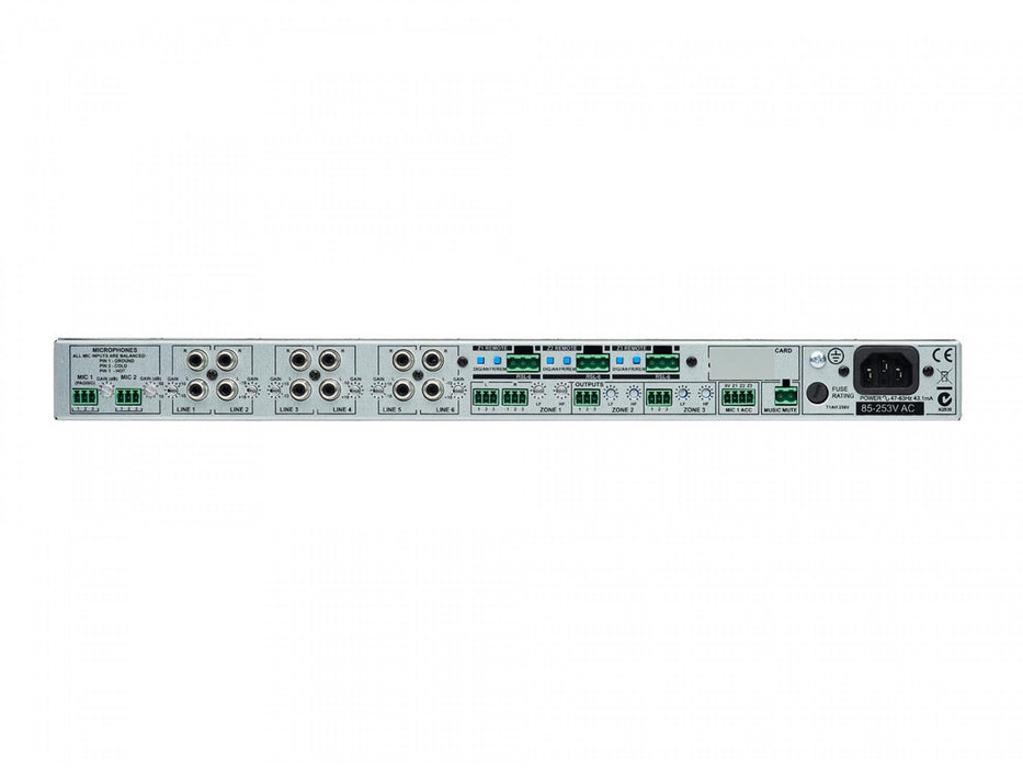 Rear Image of Cloud Electronics CX263 3-Zone Mixer Pre-amp