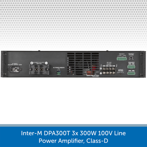 Inter-M DPA300T 3x 300W 100V Line Power Amplifier, Class-D