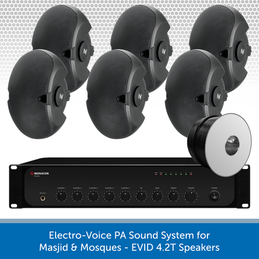 Electro-Voice PA Sound System for Masjid & Mosques - EVID 4.2T Speakers