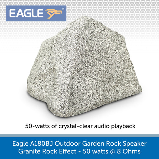 Eagle A180BJ Outdoor Garden Rock Speaker, Granite Rock Effect