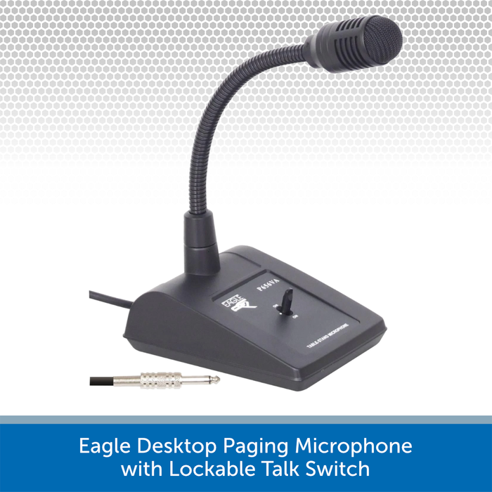 Eagle Desktop Paging Microphone with Lockable Talk Switch