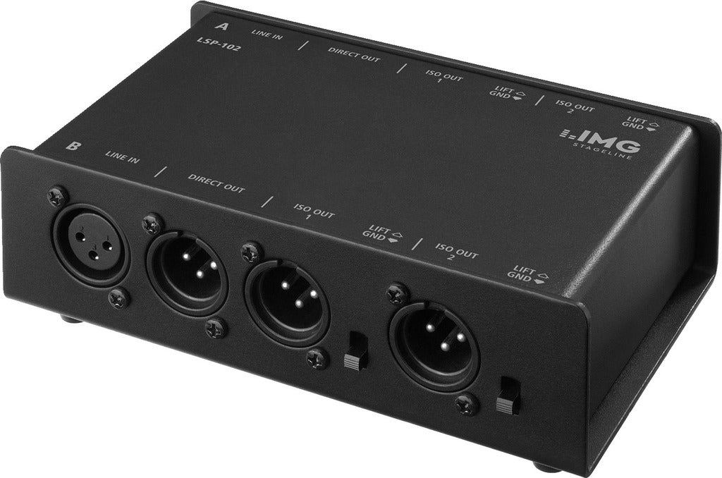 IMG Stageline LSP-102 2-Channel 3-Way Line Splitter - Perfect for Multiple Amp Setups