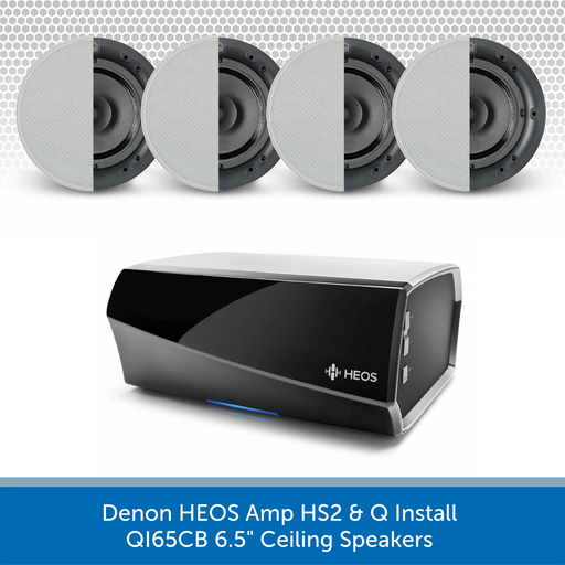 "Denon HEOS Amp HS2 + Q Install QI65CB 6.5"" Ceiling Speakers (Four Speaker))"