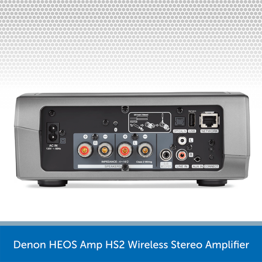 Denon HEOS Amp HS2 Wireless Stereo Amplifier rear