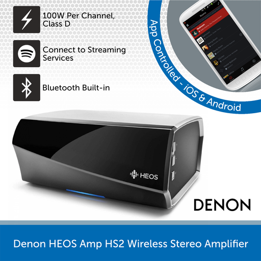 Denon HEOS Amp HS2 Wireless Stereo Amplifier