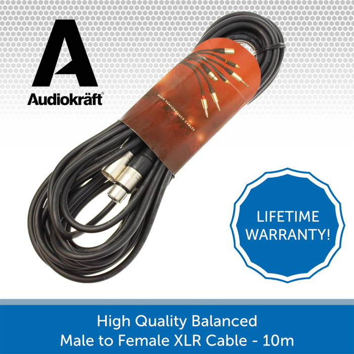 Audiokraft balacned XLR cable 10m