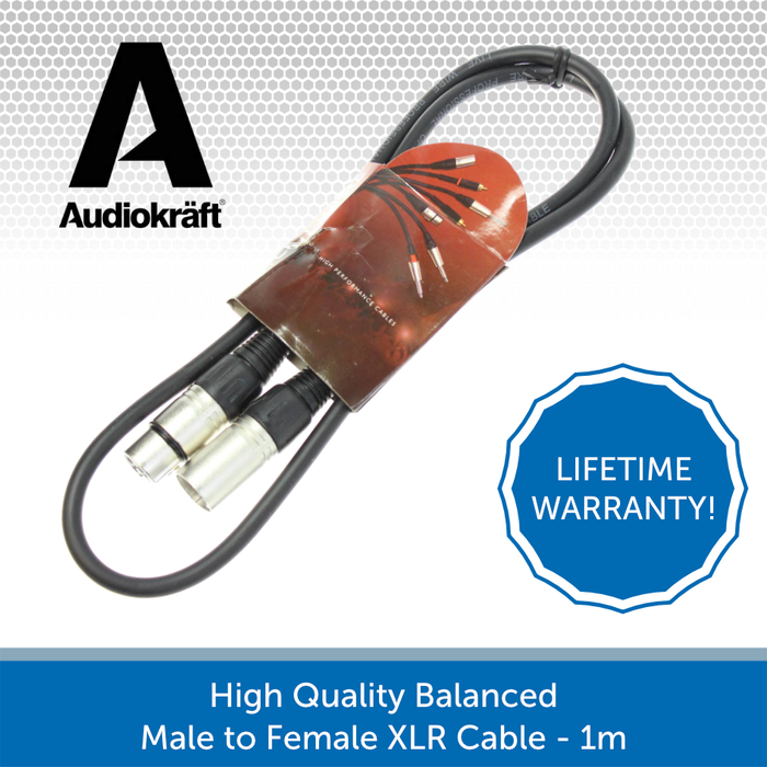 Audiokraft balacned XLR cable 1m