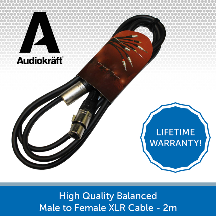 Audiokraft balacned XLR cable 2m