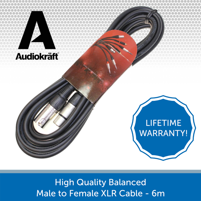 Audiokraft balacned XLR cable 6m