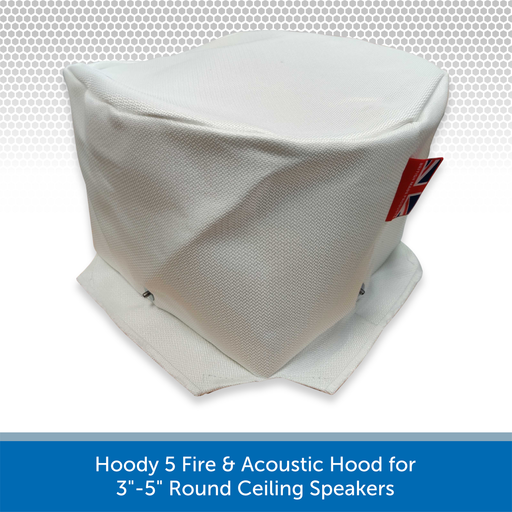 "Hoody 5 Fire & Acoustic Hood for 3""-5"" Round Ceiling Speakers"