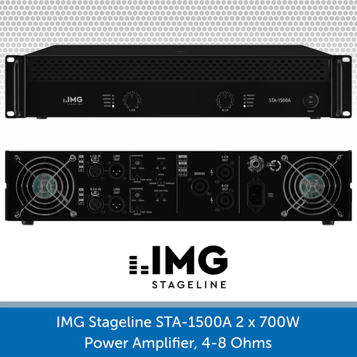 IMG Stageline STA-1500A 2 x700W Power Amplifier, 4-8 Ohms
