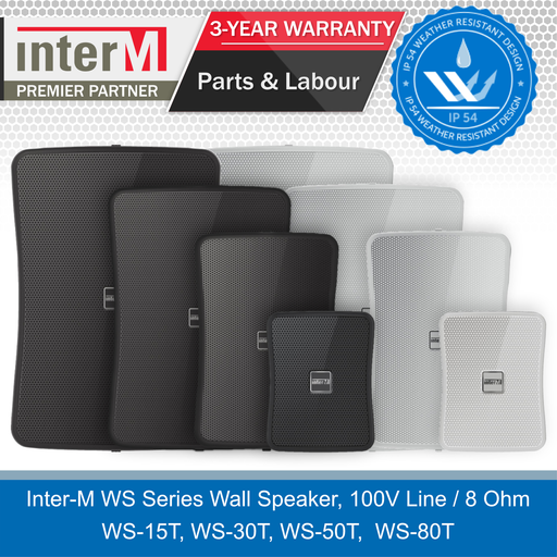 Inter-M Premium Weatherproof Outdoor Wall Speakers