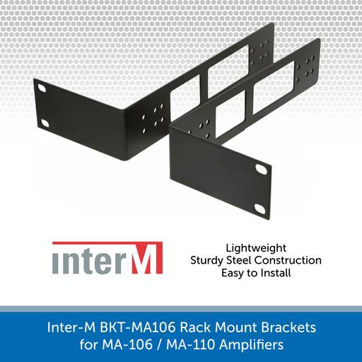 Inter-M BKT-MA106 Rack Mount Brackets for MA-106 / MA-110 Amplifiers