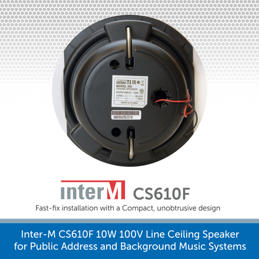Showing the back of a Inter-M CS610F 10W 100V Line Ceiling Speaker