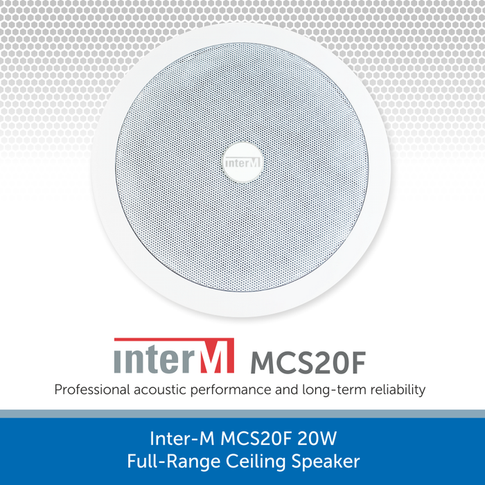 Inter-M MCS20F 20W Full-Range Ceiling Speaker for Public Address and Background Music Systems