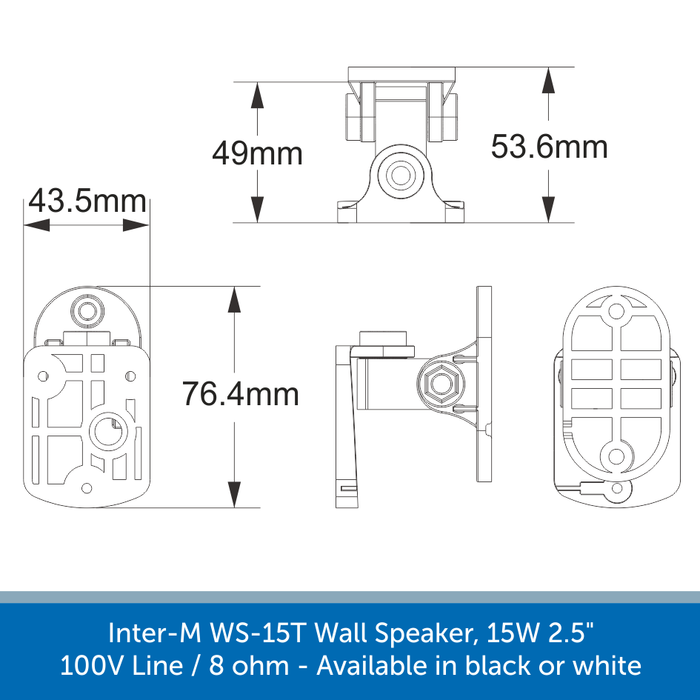 Mounting bracket for a Inter-M WS Speaker