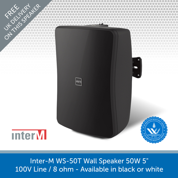 Inter-M WS Series Professional Compact Loudspeakers for Background & Foreground Music, IP54 Rated