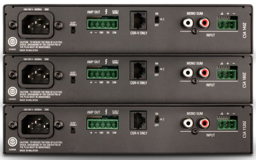 JBL Commercial CSA 1-Channel 100V Line Power Amplifiers - CSA140Z/CSA180Z/CSA1120Z