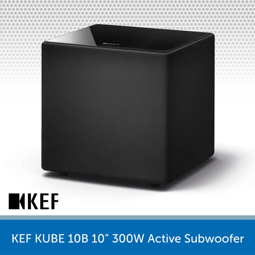"KEF KUBE 10B - 10"" 300W Compact Active Subwoofer"