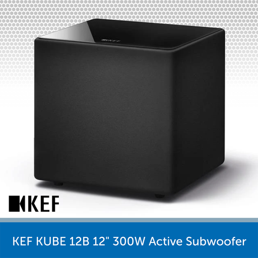 "KEF KUBE 12B - 12"" 300W Compact Active Subwoofer"