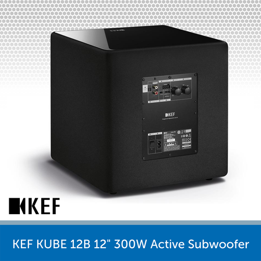 "KEF KUBE 12B - 12"" 300W Compact Active Subwoofer REAR"