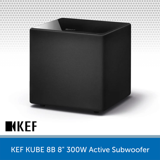 "KEF KUBE 8B - 8"" 300W Compact Active Subwoofer"