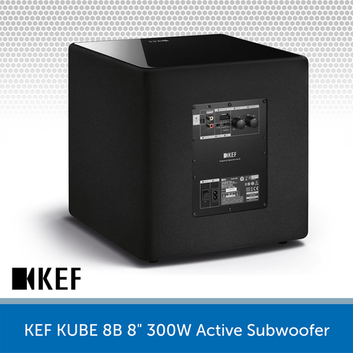 "KEF KUBE 8B - 8"" 300W Compact Active Subwoofer REAR"
