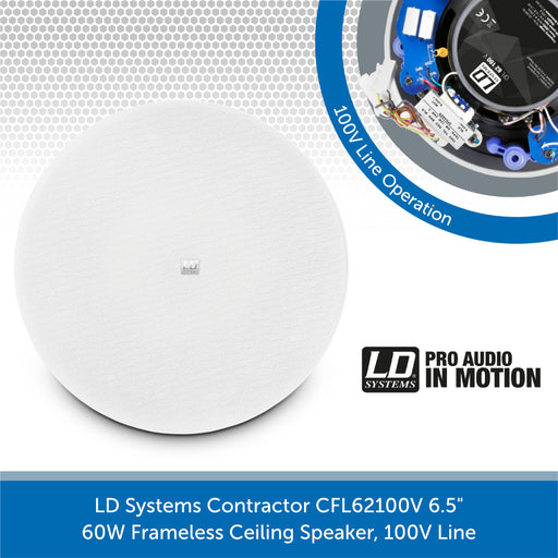 LD Systems Contractor CFL 62 100 V Framless Ceiling Speaker