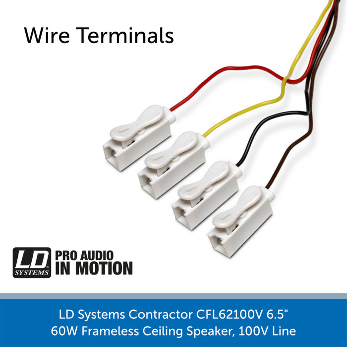 LD Systems Contractor CFL 62 100 V Wire Terminals