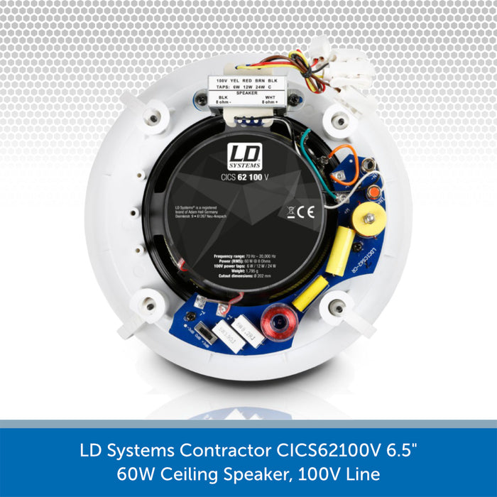 "LD Systems Contractor CICS62100V 6.5"" 60W Ceiling Speaker Rear"
