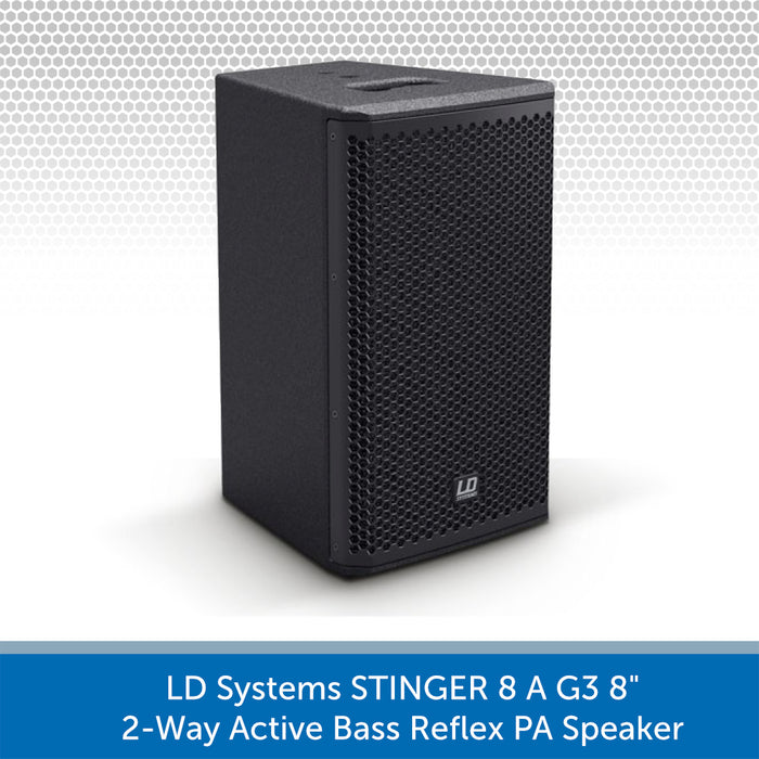 "LD Systems STINGER 8 A G3 - 8"" 2-Way Active Bass Reflex PA Speaker"