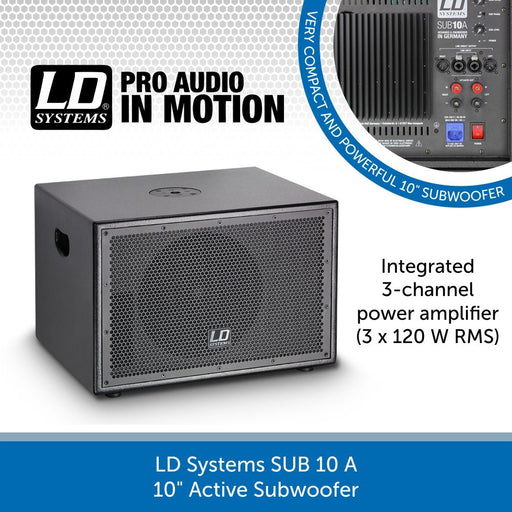 "LD Systems SUB 10 A 10"" Active Subwoofer"