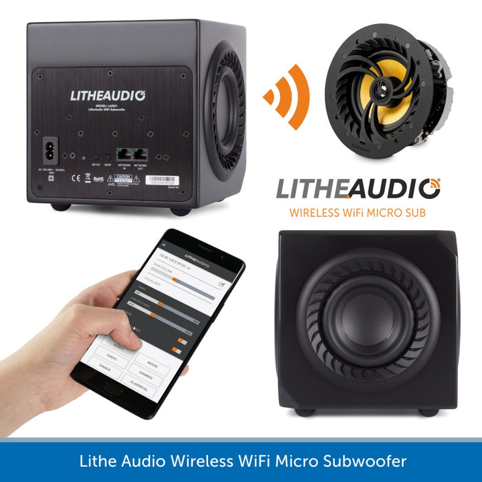 Lithe Audio Micro Subwoofer - Wireless WiFi Sub with a plug & play easy setup