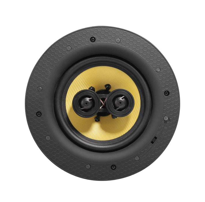 "Lithe Audio 6.5"" Passive Stereo Ceiling Speaker, 60W RMS, 8+8 Ohms"