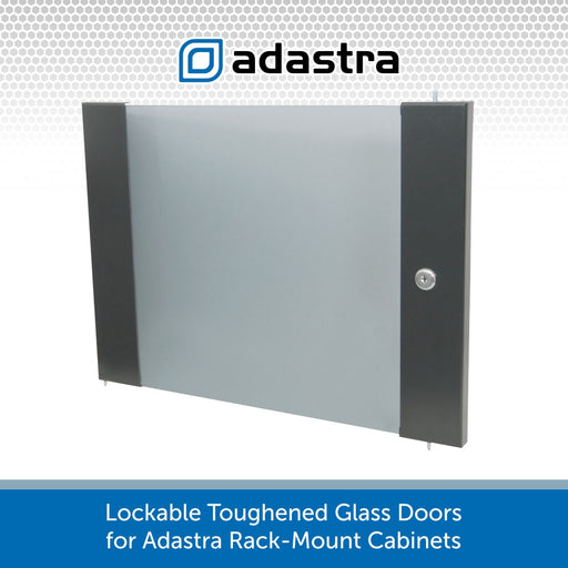 Lockable Toughened Glass Doors for Adastra Rack-Mount Cabinets
