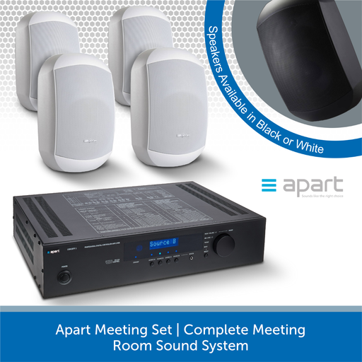 Apart Meeting Set Complete Meeting Room Sound System White