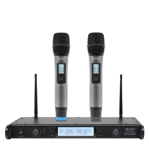 W-Audio DTM 600H Twin Beltpack UHF Wireless Mic System (606.0mHz-614.0mHz)