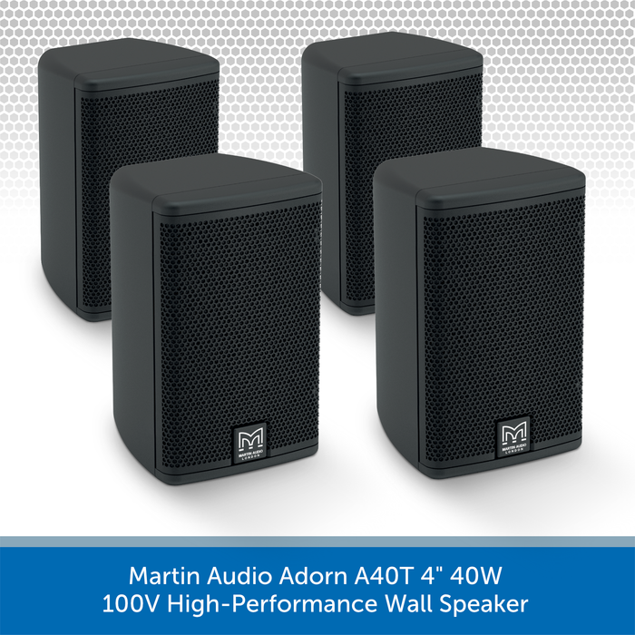 "Martin Audio Adorn A40T 4"" 40W 100V-Line High-Performance Wall Speaker 4 Pack"